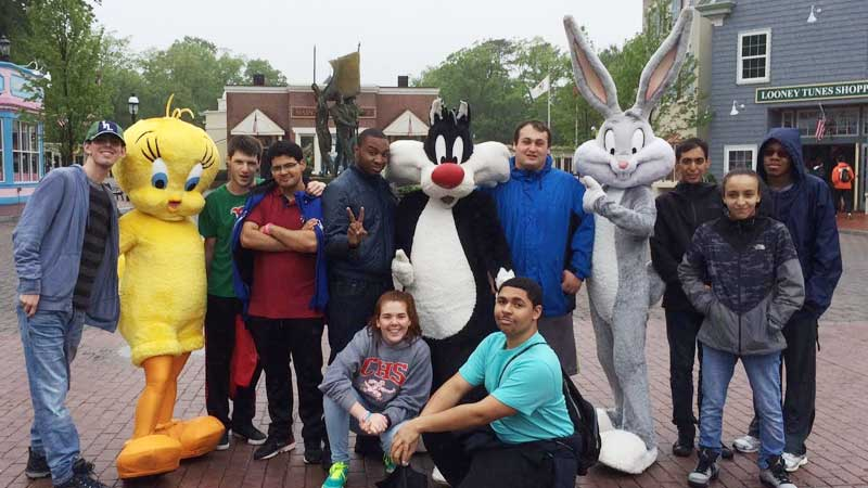 Students at 6 flags great adventure