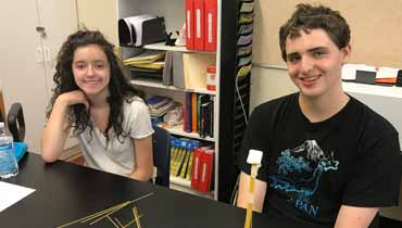 Teens build the tallest free-standing structure using no more than 20 sticks of spaghetti